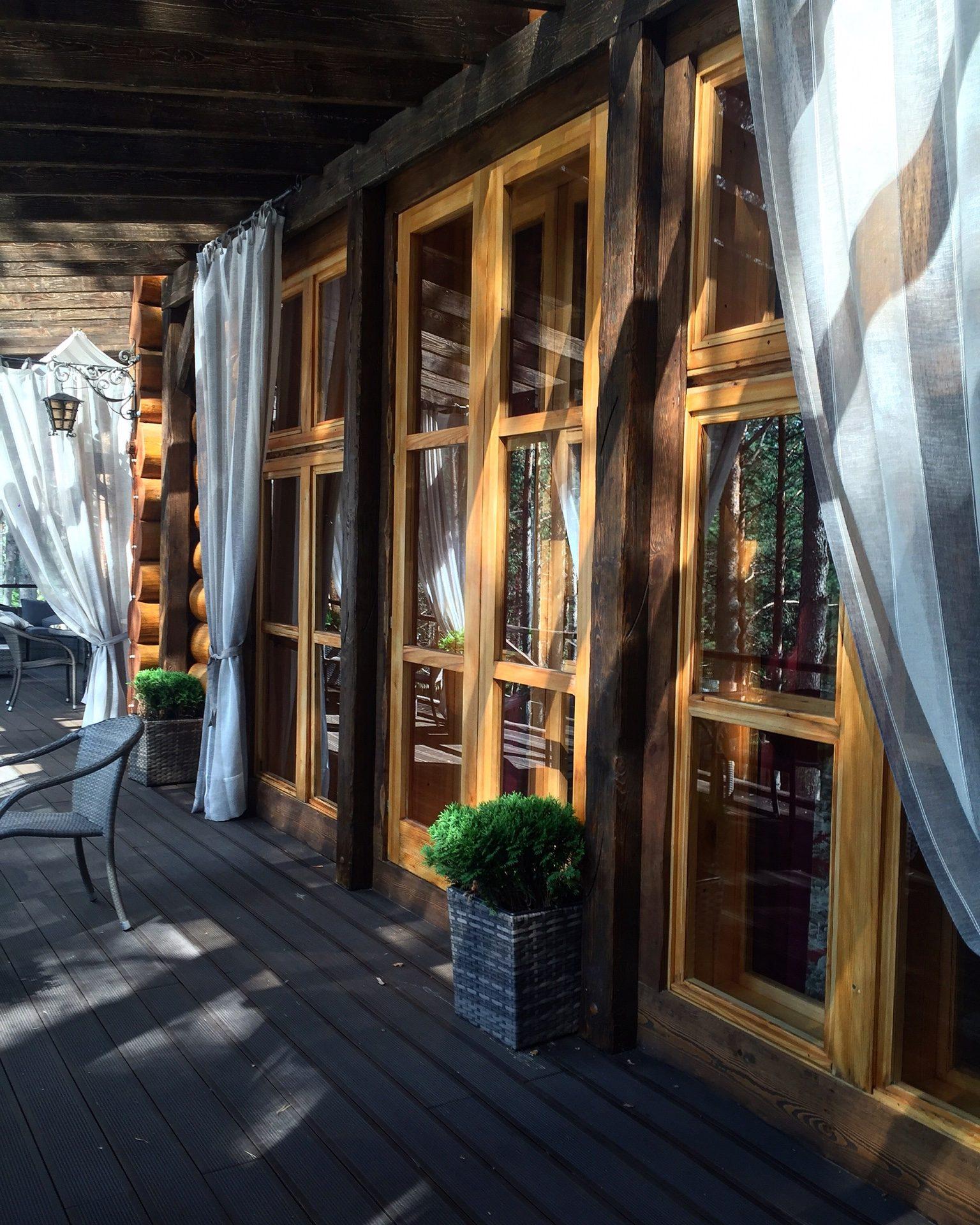 Деревянные окна с двойным остеклением